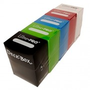 Set of 5 New Ultra-Pro Deck Boxes for Magic/Pokemon/YuGiOh Cards (Incl. Red, Blue, Green, Black and White) Toy...
