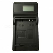 Cargador de bateria ismartdigi 07A LCD USB camara para Samsung 07A SLB-07A-negro