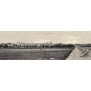 Craiova, 1905, vedere panoramica rara, poster 100 x 33 cm