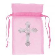 Marturii botez saculet roz set 12