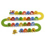 Skillofun Wooden Animal Number Train, Multi Color