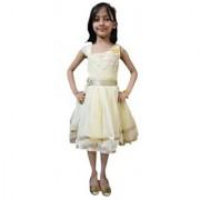 Kids dresses baby clothing girls Designer net frock Golden 3 4 5 6 years