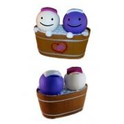 Salvadanaio Love Bath - coppia di omini in vasca