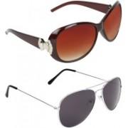 Zyaden Oval, Aviator Sunglasses(Black)