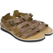 Clarks Men Tan Leather Sports Sandals