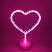 Lampa Decorativa Neon Inima de Inchiriat, Lumina Calda, cu Baterii