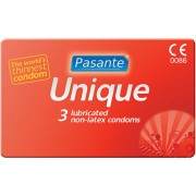 Preservativi senza lattice ultrasottili Pasante Unique 3 pezzi