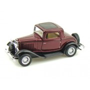 Kinsmart 1:34 Scale 1932 Ford 3 Window Coupe, Multi Color