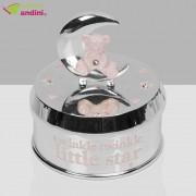 Cutiuță Muzicală Argintată Pink Bear