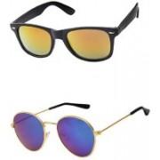 Lee Topper Wayfarer, Round, Aviator Sunglasses(Yellow, Green)