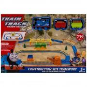 Влак с два вагона и ЖП спирка, звук и светлина EmonaMall, синьо - Код W2885