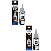 Epson Black Ink Pack of 2 (T6641)