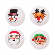 Baker Ross Christmas Light-up High Bounce Balls (Pack of 4)