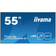 iiyama 55' Super Slim, 1920x1080, IPS panel, 6,5mm bezel width, DP, DVI, 2xHDMI, Video, USB Media, Speakers, 700cd/m², 1300:1 Static Contrast, 8ms, Landscape or Portrait mode, Video wall, LAN Control