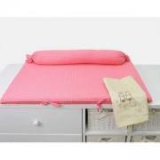 Мека подложка за повиване Joy line, розова - зайчета , 011257