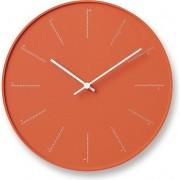 Lemnos Zegar ścienny Divide pomarańczowy