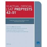 10 Actual 42-51, Official LSAT Preptests: Preptests 42-51, Paperback/***