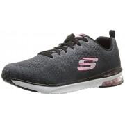 Skechers Sport Women s Skech Air Infinity Fashion Sneaker Black/White 8 B(M) US