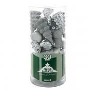 Sfere natalizie - argento - 1066 (conf.30) - 164115 - No Brand