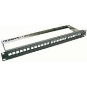 TNPP-XKJ-6000TX-M - 24-Port XKJ/UKJ-Panel 1HE, RAL7035, TNPP-XKJ-6000TX-M