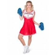 Disfraz de animadora color rojo Cheers mujer XL