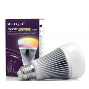 LED lámpa , égő , E27 foglalat , 8 Watt , RGB+CCT