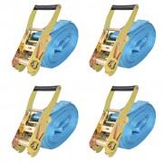 vidaXL Ratchet Tie Down Straps 4 pcs Tonnes 8mx50mm Blue
