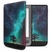 kwmobile Flipové pouzdro pro PocketBook Touch Lux 3 / Basic Lux / Basic Touch 2 - modrá