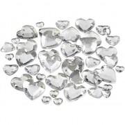 Merkloos Transparante hartjes diamanten 252 stuks