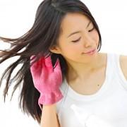 瞬間吸水タオル ヘアドライ手袋 日本製 ヘアケア・ドライヤー ベルーナ