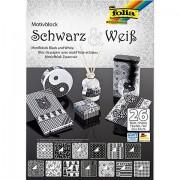 """Folia Papierblock """"Schwarz & Weiß"""", 24 x 34 cm, 26 Blatt"""