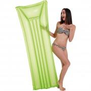 Merkloos Waterspeelgoed neon groen/glitter luchtbed 174 x 59 cm voor jongens/meisjes/kinderen en dames/heren/volwassenen