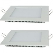 SRS 18W LED Concealed Square Shape Panel Light With Adopter Pack Of 2 White