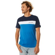 Rip Curl Undertow Panel Mens Tee Mid Blue Marle