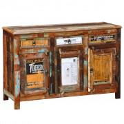 vidaXL Skänk vintage återvunnet trä 3 lådor 3 luckor
