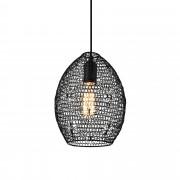 PremiumXL - [lux.pro] Dekorativna dizajn viseća svjetiljka / stropna svjetiljka - crno (1 x E27)