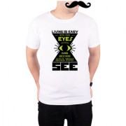 Mooch Wale Close Your Eyes And See Misunderstanding White Quick-Dri T-shirt For Men