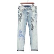 【77%OFF】ROCCO ストレッチ グラフティ ウォッシュ スキニーデニム アリーアート 33 ファッション > メンズウエア~~パンツ