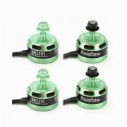 4X Racerstar Racing Edition 2205 BR2205 2300KV 2-4S Brushless Motor Green For 210 X220 RC Drone FPV Racing