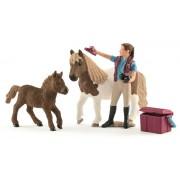 Set figurine Schleich - Grajdar cu Ponei Shetland - SL42362