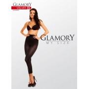 Heltäckande plus size legging utan mönster Velvet 80 från Glamory black 48-50