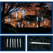 Stalactite extensibile 120 led lumina alb rece 5.4x0.2m cablu transparent sistem S-Out
