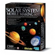 4M Glow-In-The-Dark Kids Educational Solar System Mobile Science Project Toy New