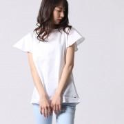 【SALE 50%OFF】トミーヒルフィガー TOMMY HILFIGER フレアスリーブTシャツ (ホワイト)