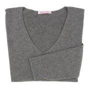 Les Poulettes Bijoux Pull Femme 100% Cachemire Oversize Gris Anthracite - taille XL