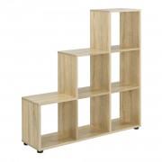 Дизайнерски стъпаловиден шкаф/етажерка Дърво, 104 x 107 x 29cm
