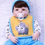 22 55 Cm Bebe Garçon Reborn Full Body Silicone Reborn Baby Poupées Pour Enfants Cadeau Réel Alive Bonecas Peut Entrer Dans L'eau