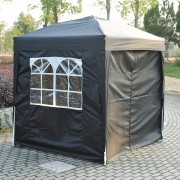Outsunny Pop Up Gazebo Canopy, size (2 x 2m)-Black