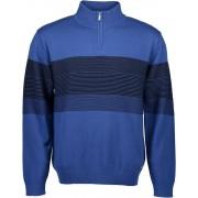 Blue Seven Striped Blue Sweater Heren