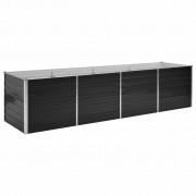 vidaXL Vaso/floreira de jardim aço galvanizado 320x80x77 cm antracite